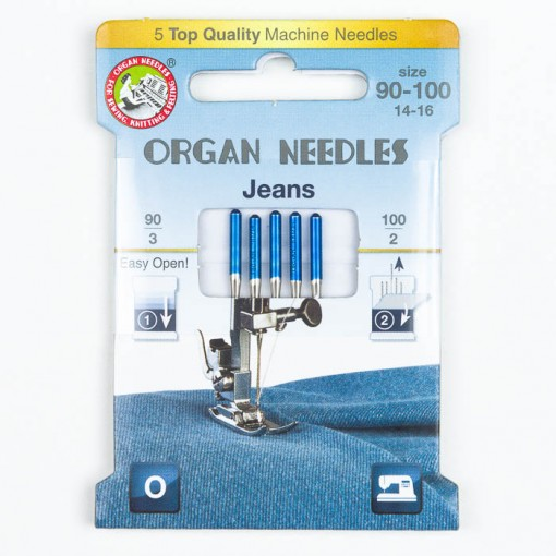 Organ Jeans Nadeln Sortiment, 130/705H, Eco Pack