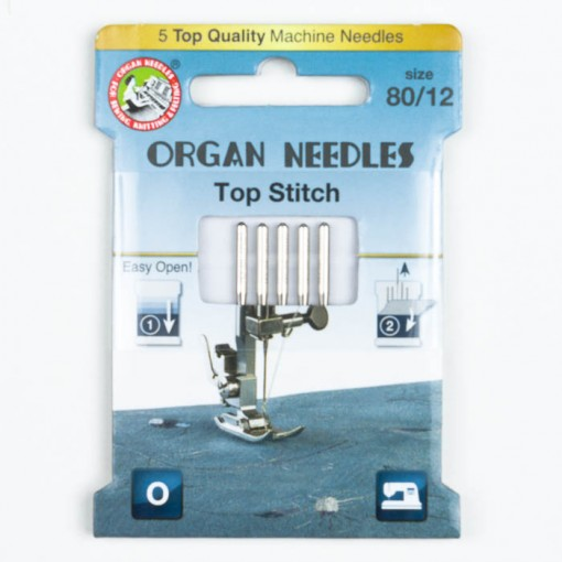 Organ Top Stitch Nadeln 80, 130/705H, Eco Pack