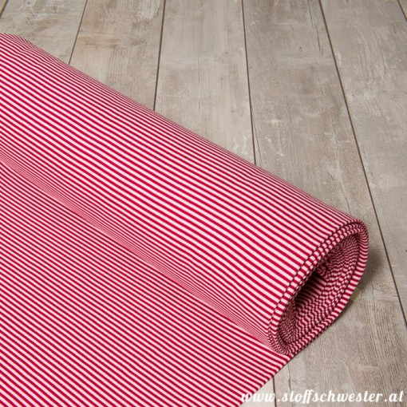 Ringelbündchen rosa-weinrot