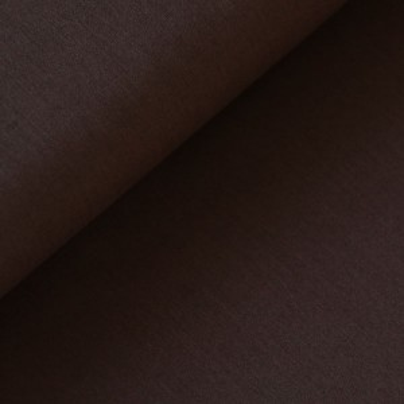 Unibaumwolle - soft touch - dunkelbraun