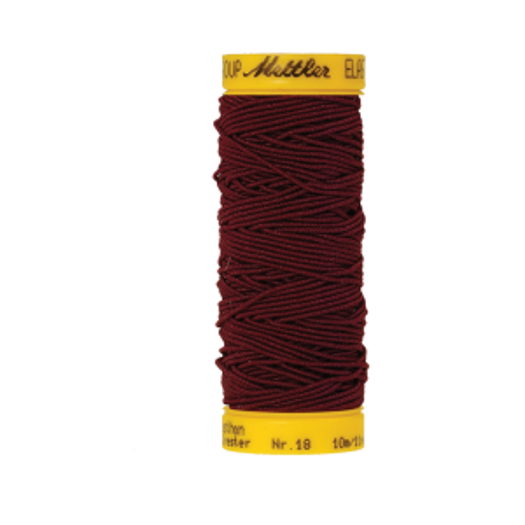 Elasticfaden 10m - Cranberry FNr: 0918