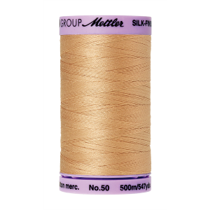 Silk-Finish Cotton 50, 500m - Oat Straw FNr. 0260