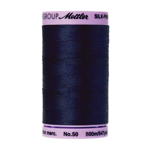 Silk-Finish Cotton 50, 500m - Navy FNr. 0825