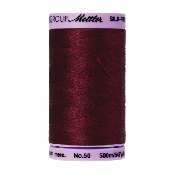Silk-Finish Cotton 50, 500m - Cranberry FNr. 0918