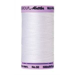 Silk-Finish Cotton 50, 500m - White FNr. 2000