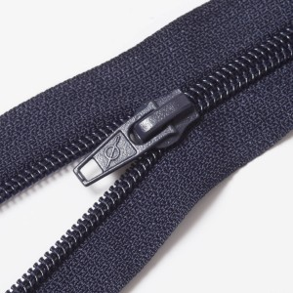 Teilbarer Nylon Reißverschluss, 6mm, navy