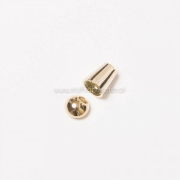 """5mm Kordelende """"Zylinder"""" gold"""