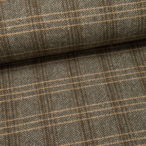Mantel-Woll-Tweed (Made in Italy) Lorenzo khaki