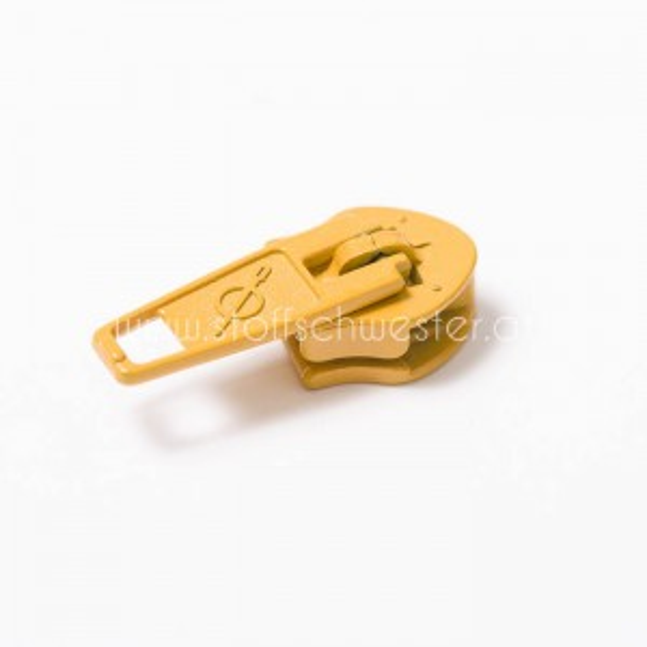 5mm Pin-Lock Schieber senf (3 Stück)