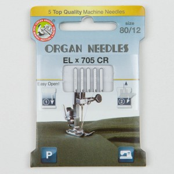 Organ ELx705 Chromium Overlocknadeln 80, 130/705H, Eco Pack