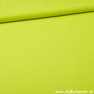 Unibaumwolle - soft touch - lime