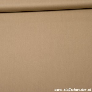 Bio-Unibaumwolle - soft touch - taupe