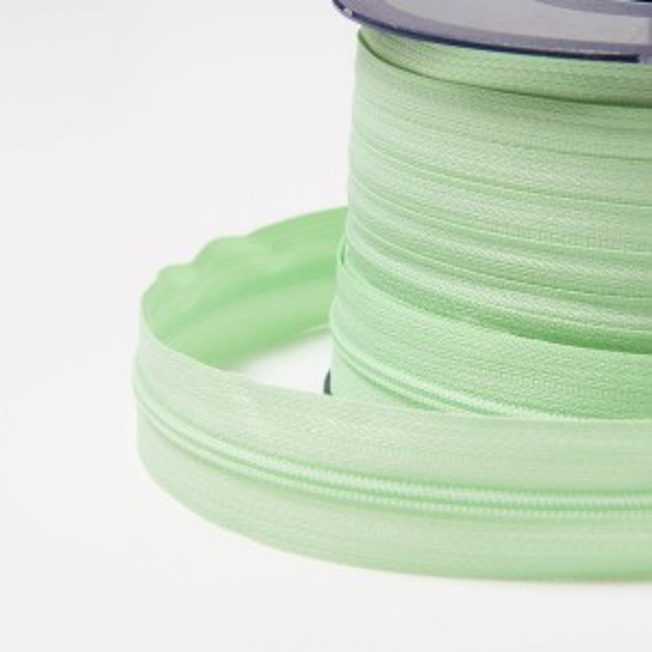 3mm Endlos-Reißverschluss blasses grün