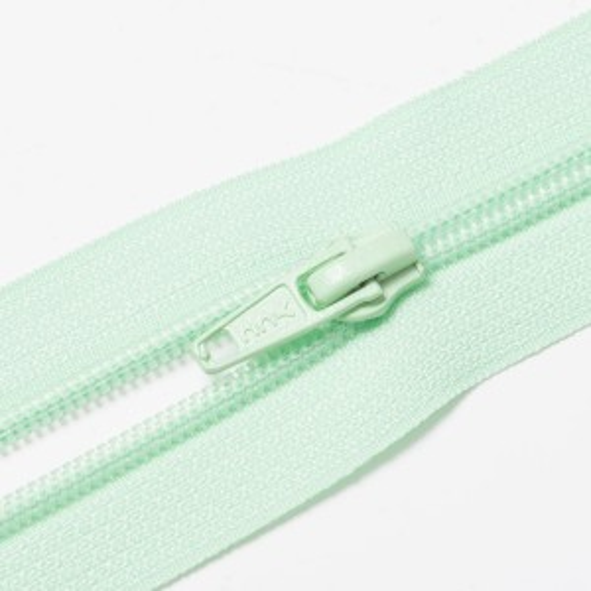 Teilbarer Nylon Reißverschluss, 6mm, blasses grün