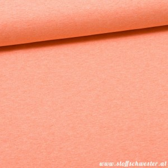 Kuschelsweat meliert - orange