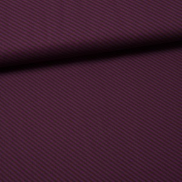 *SALE* Diagonal Stripe Baumwolle aubergine/braun