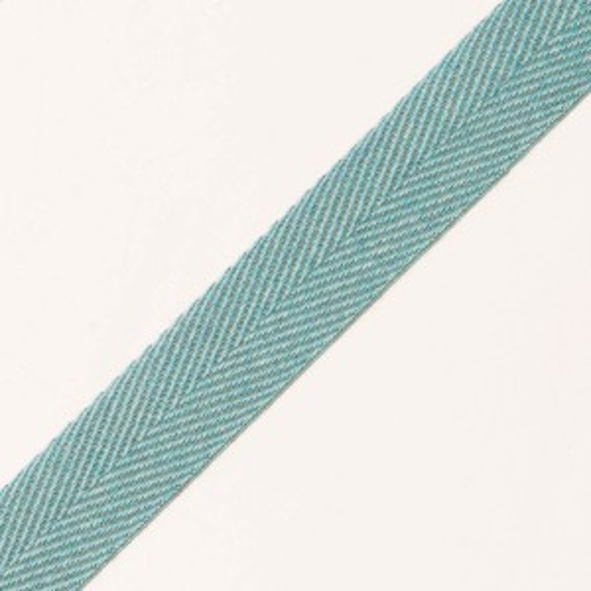 20mm Baumwollköperband zweifarbig petrol/mint