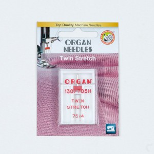 Organ Needles Twin Stretch 75/4,0 mm Doppelnadel 130/705 1 Stück