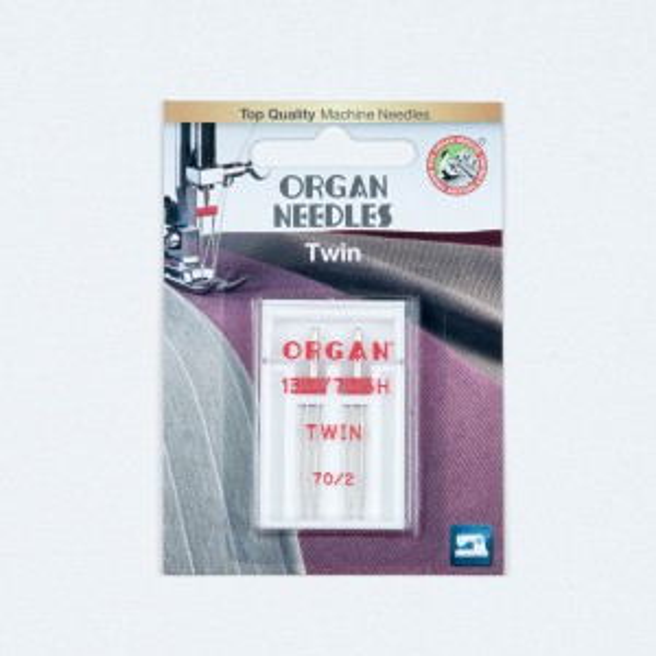 Organ Needles Twin 70/2,0 mm Doppelnadel 130/705 2 Stück