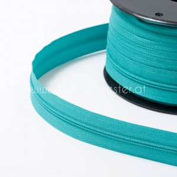 3mm Endlos-Reißverschluss türkisgrün