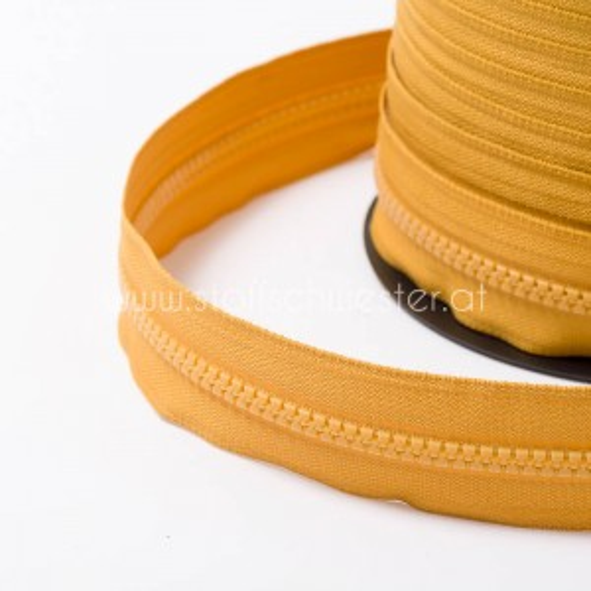 5mm Profil-Endlosreißverschluss senf