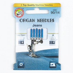 Organ Jeans Nadeln 90, 130/705H, Eco Pack