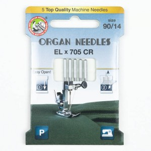 Organ ELx705 Chromium Overlocknadeln 90, 130/705H, Eco Pack