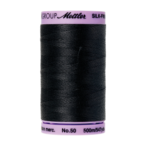 Silk-Finish Cotton 50, 500m - Black FNr. 4000