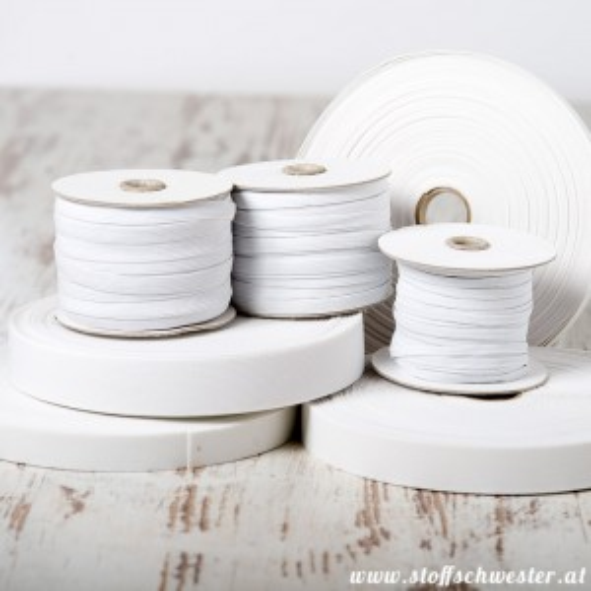 40mm Einziehgummi weiß