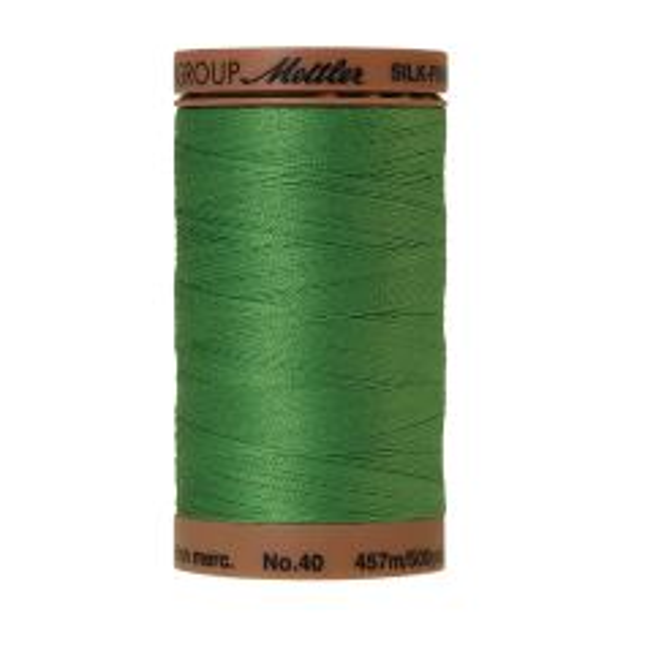 Silk-Finish Cotton 40, 457m - Vibrant Green: Reines Baumwollgarn aus 100% langstapliger, ägyptischer Baumwollte von Amann Mettler