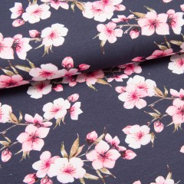Cherry Blossoms Jersey dunkelblau