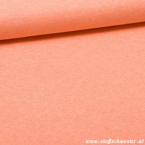 Stoffschwesters Kuschelsweat meliert orange
