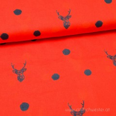 Deer and Dots Canvas rot