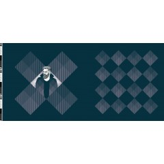 "Panel Square Dance by Thorsten Berger ""Mister"" Jersey petrol (Rapport 80cm)"