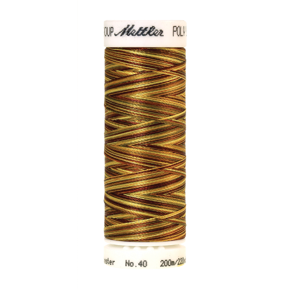 Amann Mettler Poly Sheen Multi, 200m Spule in Golden Harvest Die Multifarben harmonieren perfekt mit dem unifarbenen Poly Sheen