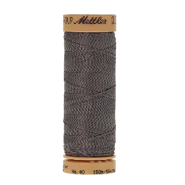 Amann Mettler Quilting waxed, 150m - Smoke Handquiltgarn