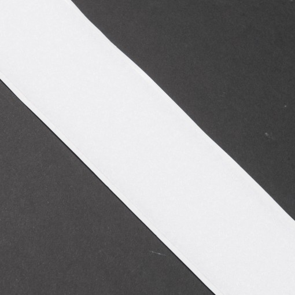 """50mm Endlos-Klettverschluss selbstklebend """"Flauschband"""" weiß"""