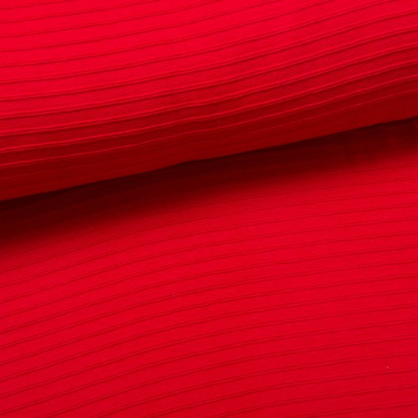 Relief-Bündchen rot