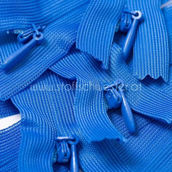 22cm Nahtverdeckter Reißverschluss royalblau