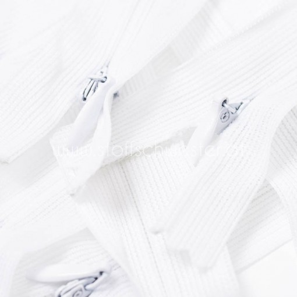 18cm Nahtverdeckter Reißverschluss weiß