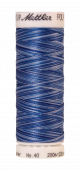 Amann Mettler Poly Sheen Multi, 200m Spule in Nautical Blues  Die Multifarben harmonieren perfekt mit dem unifarbenen Poly Sheen
