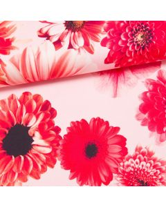 Tinted Flower Stretch-Satin by Cherry Picking rosa
