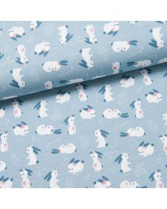 Bunnies in Love Jersey hellblau