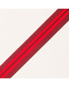 25mm Galonband gestreift bordeaux/rot