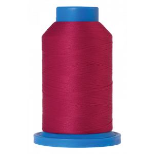Amann Mettler Seraflock in der Farbe Fuschia auf der 1000m Kone. Seraflock ist ein Bauschgarn, besonders geeignet für Dessous, Schwimm- und Sportbekleidung.