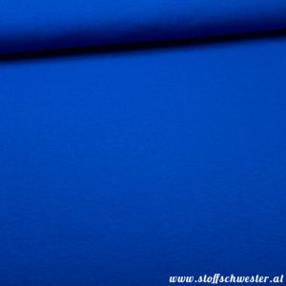 Stoffschwesters Kuscheljersey, ein Jerseysweat royalblau 1